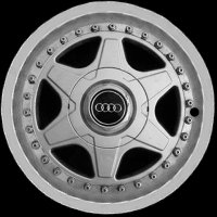 "15"" Audi 6 Double Spoke wheels 893601025PZ7P"