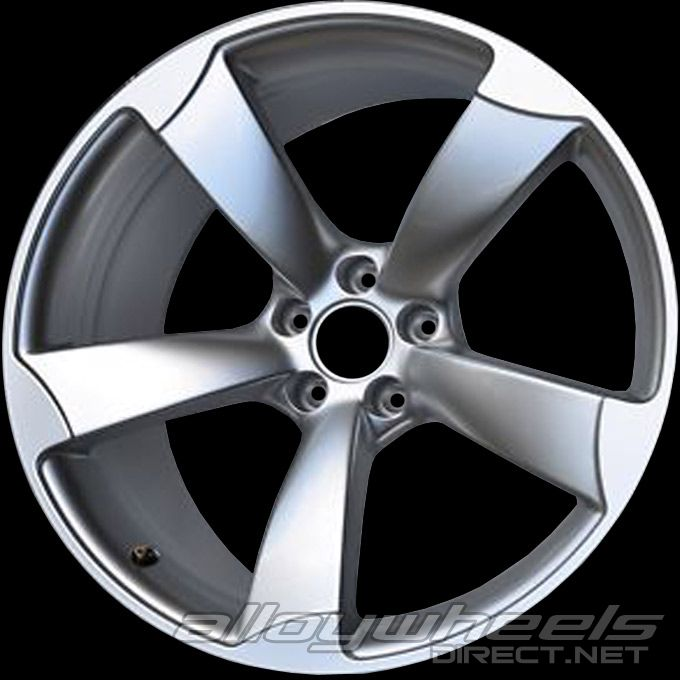 19 Quot Audi 5 Arm Rotor Wheels In Silver Alloy Wheels