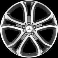 "21"" Mercedes 5 Twin Spoke wheels A16640127027X21"