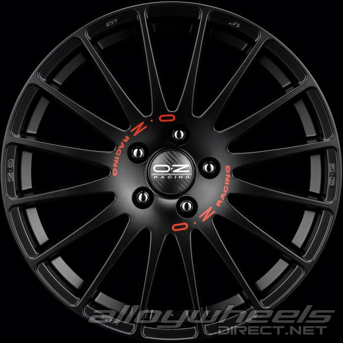17 oz racing superturismo gt wheels in matt black red. Black Bedroom Furniture Sets. Home Design Ideas
